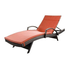 GDF Studio Savana Outdoor Wicker Lounge with Arms with Cushion, Set of 1