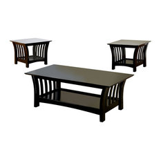 Furniture of America McLure Transitional 3-piece Wood Table Set in Black by Furniture of America E-Commerce by Enitial Lab