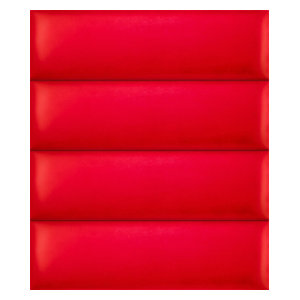 Upholstered Wall Panels By VANT Upholstered Headboards, Suede Red Melon, 39''