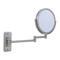 Zadro Two-Sided Dual-Arm Wall Mount Mirror With Magnification