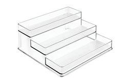 InterDesign Linus Spice Organizer Rack, 3-Tiered Storage for Kitchen Pantry