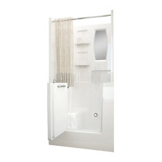 MediTub Walk-In 31 x 40 Right Drain White Soaking Walk-In Bathtub