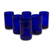 Solid Blue, Set of 6 Drinking Glasses, Mexico