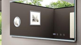 Neues Design Umweltfreundlicher LED-Badspiegel
