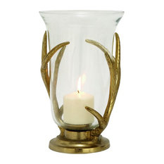 "GwG Outlet - GwG Outlet Aluminium Glass Hurricane Candle Holder, 8""x12"" - Candleholders"
