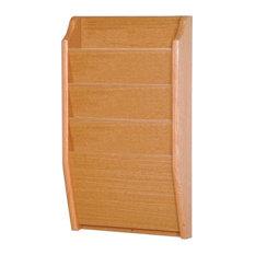 Pemberly Row 4 Pocket Chart Holder in Light Oak