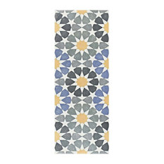 """5.88""""x15.75"""" Margot Ceramic Floor and Wall Tile, Star, Set of 16"""