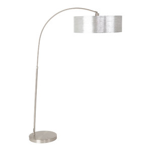 Adelina Arched Brushed Steel Floor Lamp Contemporary