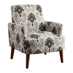 Furniture of America Lilac Accent Chair, Floral Pattern