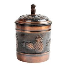 nu steel Pineapple Antique Copper 1 QT Canister