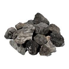 5 lb. Firepit Rock Bag, Charcoal Gray, Charcoal Gray, 5-Pack