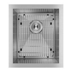 "EFU131610TC Crosstown 16 Gauge Stainless Steel 16"" x 18-1/2"" Undermount Sink Kit"
