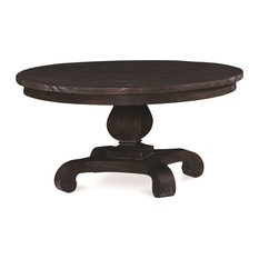 Bramble   Pedestal Cocktail Table, Round With Cocoa Stain, Chelsea   Coffee  Tables