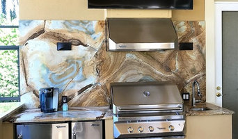 Ibis Country Club Outdoor Kitchen Featuring 'Book-Matched' Quartzite Stone
