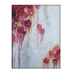 Original Abstract Flower Floral Acrylic Contemporary Painting on Textured Canvas