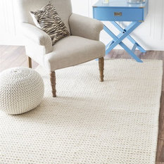 nuLOOM - Nuloom 8'x10' Hand Woven Chunky Woolen Cable Rug, Off White - Area Rugs