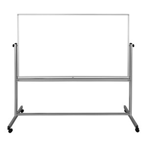 "Luxor Mobile 72""W x 48""H Dry Erase Double-Sided Magnetic Whiteboard"
