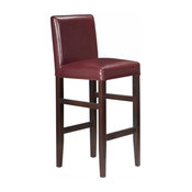 """Kendall Contemporary Wood/Faux Leather Barstool - 29"""" Bar Height Stool for Kitc"""