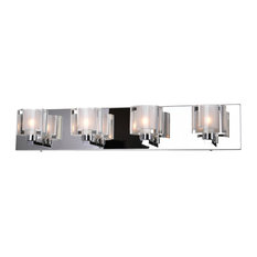 "25"" 4-Light Wall Sconce, Chrome Finish"
