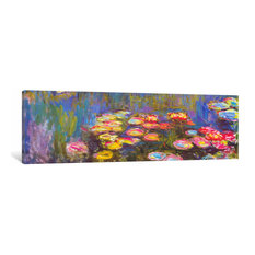 """Water Lilies by Claude Monet Canvas Print, 12""""x36""""x1.5"""""""