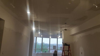 Pot lights installation in Condo with raised ceiling