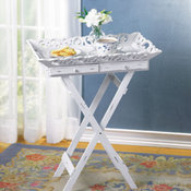 """Shabby elegance"" Folding Tray Table"