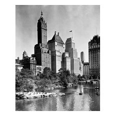 """Central Park near East 62nd Street and Fifth Avenue, 1940, 8""""x10"""" Matted"""