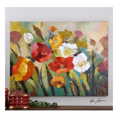 "Uttermost ""Spring Has Sprung"" Floral Art, 48""x36"""
