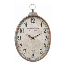 Reo Oval Fob Wall Clock