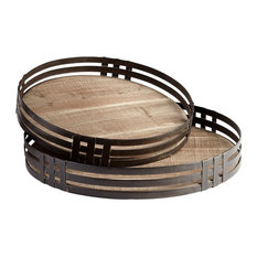 2-Piece Banded About Tray Set