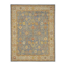 """Safavieh Antiquity Collection AT314 Rug, Blue/Ivory, 8'3""""x11'"""