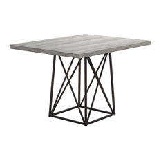 """Monarch Contemporary 48"""" Reclaimed Wood Top Dining Table in Gray and Black"""