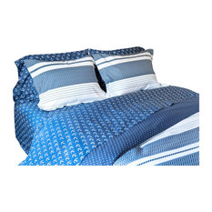 Navy/White Chevron Striped Duvet Cover Set Set