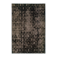 """Ophelia Overdyed Traditional Gray and Black Rug, 7'10""""x10'10"""""""
