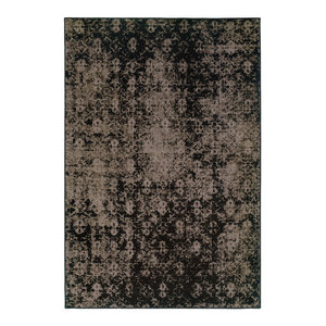 "Ophelia Overdyed Traditional Gray and Black Rug, 7'10""x10'10"""