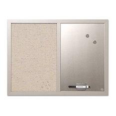 "Mastervision Combo Bulletin Board, Bulletin/Dry Erase, 24""X18"", Gray Frame"