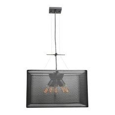 """Access Lighting 50926LEDDLP Epic 5 Light 20"""" LED Pendant, Black"""