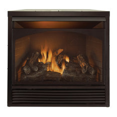Dual Fuel Fireplace Insert Zero Clearance with Remote 32,000 BTU