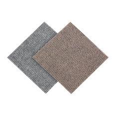"12""x12"" Berber Carpet Tiles, Set of 20, Sand"