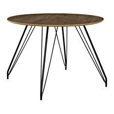 Walnut Satellite Circular Dining Table