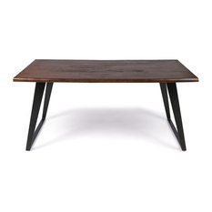 GDF Studio Simona Indoor 6-Seater Rectangular Acacia Wood Dining Table, Dark Bro