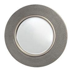 Innova - Round Hammered Mirror, Silver, 80x80 cm - Wall Mirrors