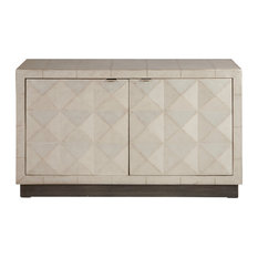 HomeFare - Two Door Silver Accent Chest - Accent Chests and Cabinets