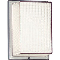 Hard-Nox 1-Light Outdoor Wall/Flush Mount White Clear Prismatic Glass