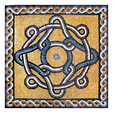 "Mozaico - Romanesque Mosaic Square, Gala Ii, 31""x31"" - Tile Murals"