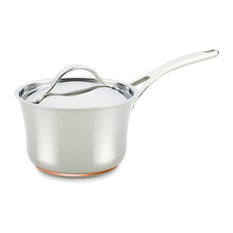 Nouvelle Copper Stainless Steel 3-1 and 2-Quart Covered Saucepan