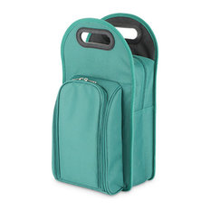 Metro, 2-Bottle Tote, Green and Black