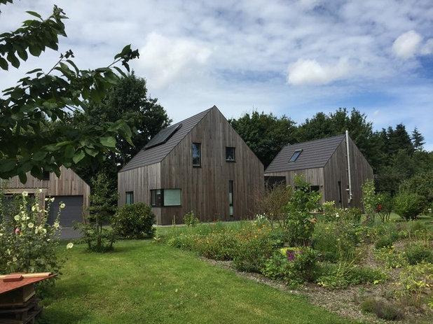 architektur modernes wohnhaus im scheunen stil bei hamburg. Black Bedroom Furniture Sets. Home Design Ideas