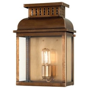 Traditional Styled Wall Lantern, Solid Brass