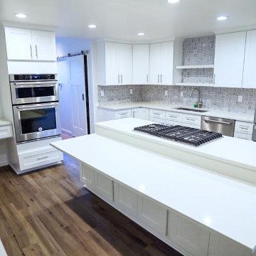 U-Shaped Minimalist Kitchen